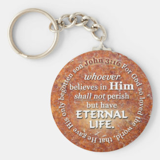 John 3:16 For God So Loved The World Bible Verse Keychain