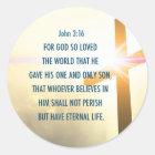 John 3:16 For God so loved the world Sticker