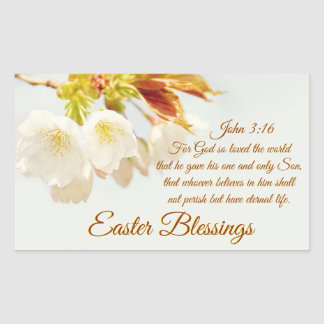 John 3:16 God so loved the world, Easter Sticker