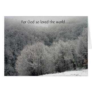 John 3:16 Icy Frost Christmas Card