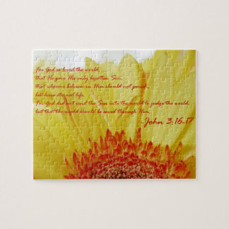 John 3:16 in Spring Jigsaw Puzzle
