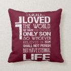 John 3:16 Pillow