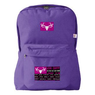 John 3:16 Pink Flag Backpack