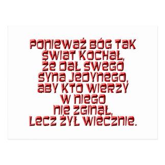 John 3:16 Polish Postcard