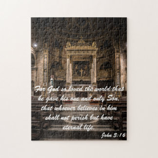 John 3:16 quote. jigsaw puzzle