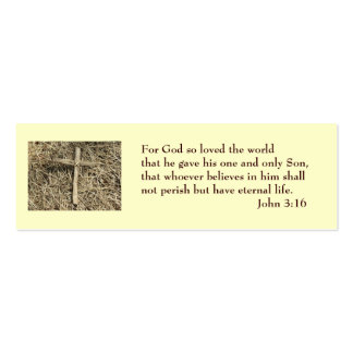 John 3:16 Salvation Card Mini Business Card