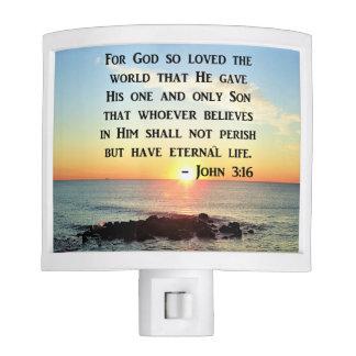 JOHN 3:16 SUNRISE ON THE OCEAN PHOTO NITE LIGHT