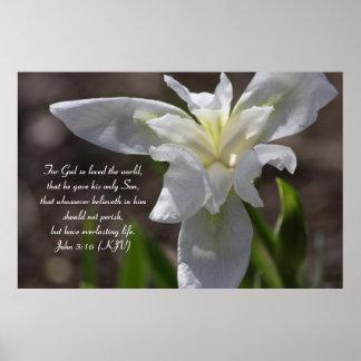 John 3:16 - The Strength of God's Love Poster