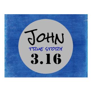 John 3.16 True Story Postcard