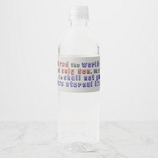 John 3:16 water bottle label