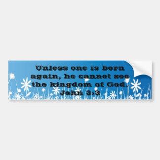 John 3:3 bumper sticker