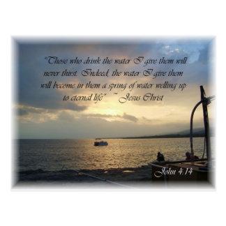 John 4:14 postcard