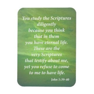 John 5:39-40 rectangular photo magnet
