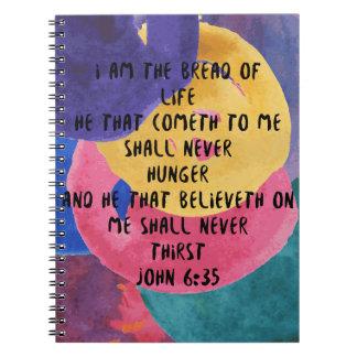John 6:35 KJV I AM the BREAD of LIFE Notebook