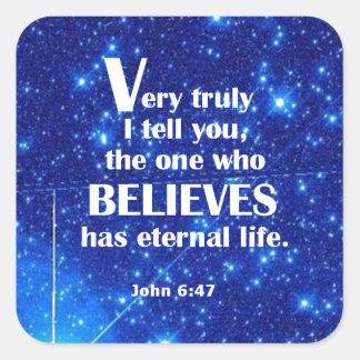 John 6 47 sticker
