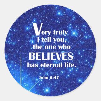 John 6 47 stickers