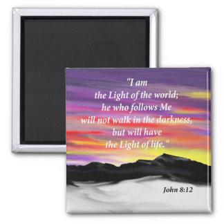 John 8:12 square magnet