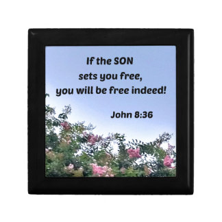 John 8:36 If the Son sets you free, you will be Gift Boxes