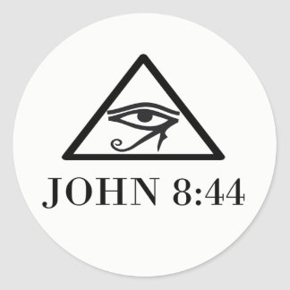 JOHN 8:44 CLASSIC ROUND STICKER