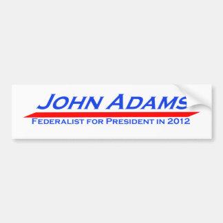 John Adams 2012 Bumper Sticker