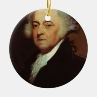 John Adams Ceramic Ornament