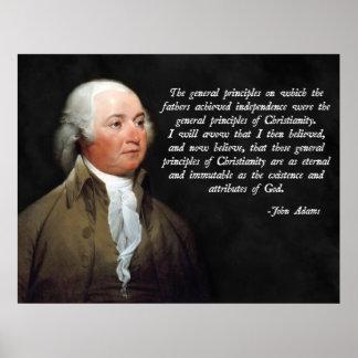 John Adams Christianity Poster