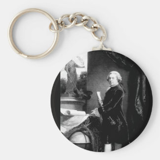 John Adams.  Copy of painting_war Image Basic Round Button Keychain