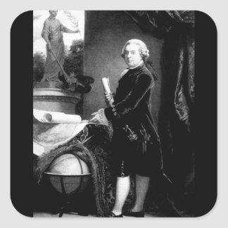 John Adams.  Copy of painting_war Image Square Sticker