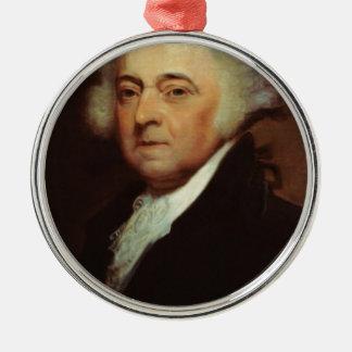 John Adams Metal Ornament