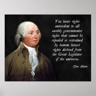 John Adams Natural Law Poster