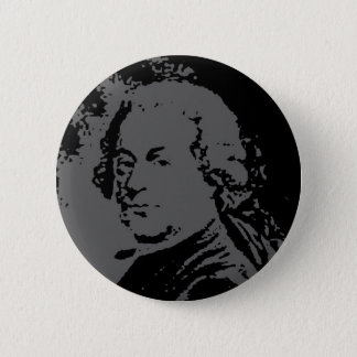 John Adams silhouette 2 Inch Round Button