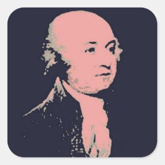 John Adams Square Sticker