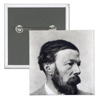 John Addington Symonds, c.1889 2 Inch Square Button