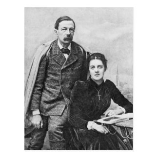 John Addington Symonds et sa fille, 1891 Cartes Postales