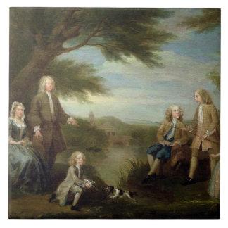 John and Elizabeth Jeffreys and their Children, 17 Tile
