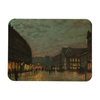 John Atkinson Grimshaw - Boar Lane, Leeds Rectangular Photo Magnet
