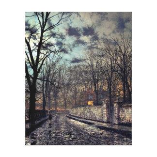 John Atkinson Grimshaw November Canvas Print