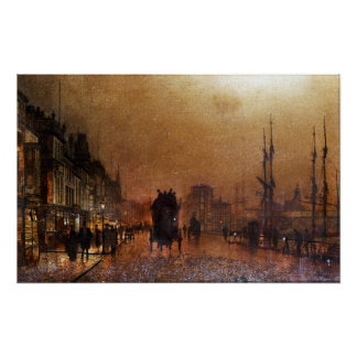 John Atkinson Grimshaw The Broomielaw, Glasgow Poster