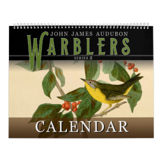 John Audubon Warblers 2 Birds of America Calendar