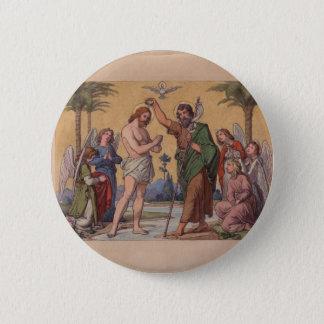 JOHN BAPTIZING JESUS 2 INCH ROUND BUTTON