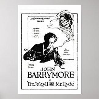 John Barrymore Jekyll and Hyde 1920 Movie Ad Print