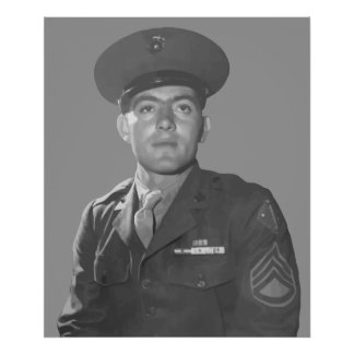 John Basilone -- Medal of Honor Recipient Poster