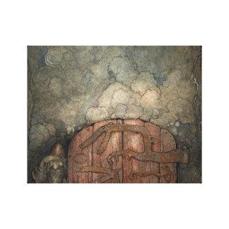 John Bauer - Bergaporten Canvas Print