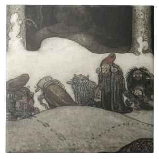 John Bauer - In the Christmas Night Tile