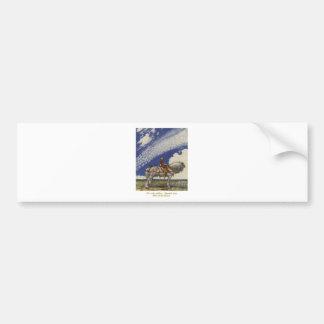 John Bauer - Into the Wide World Bumper Sticker