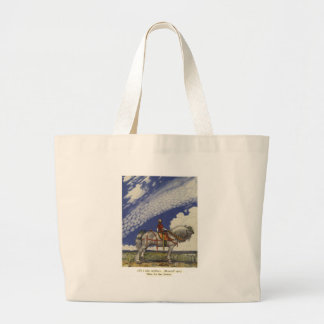 "John Bauer - ""Into the Wide World"" Large Tote Bag"