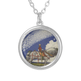John Bauer - Into the Wide World Silver Plated Necklace