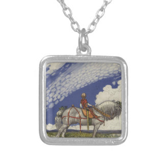 """John Bauer - """"Into the Wide World"""" Silver Plated Necklace"""