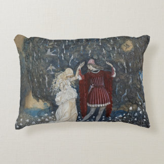 John Bauer - Lena Dances with the Knight Decorative Pillow