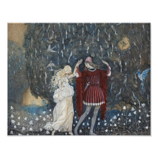 John Bauer - Lena Dances with the Knight Photo Print